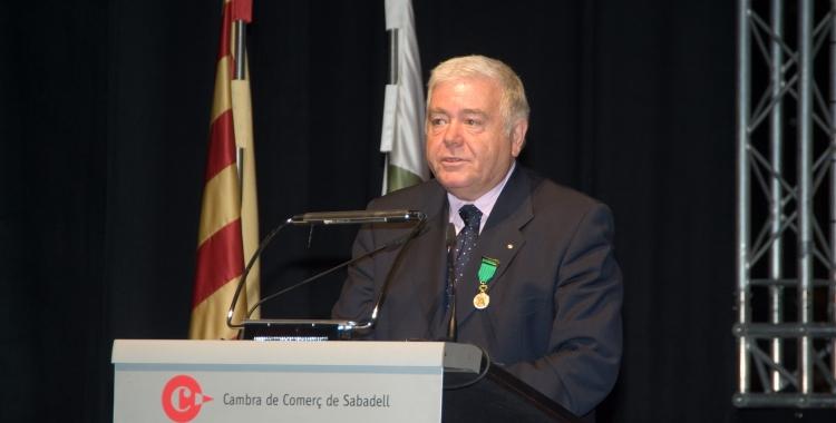 Antoni Peñarroya, en un acte de la Cambra de Comerç | Cedida