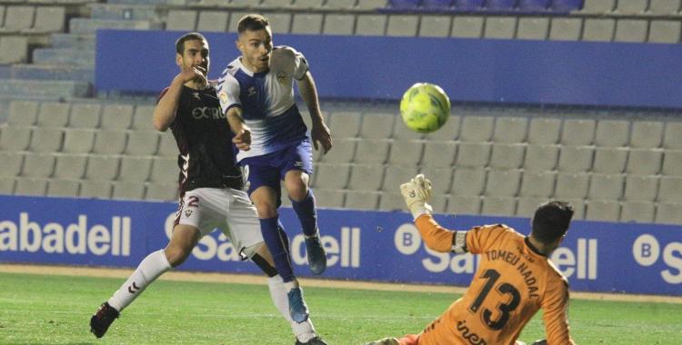 Juan Hernández, en el partit contra l'Albacete   CES