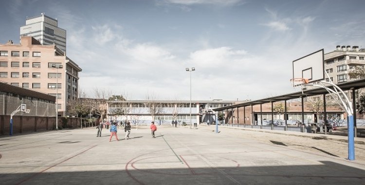 El pati de Primària de l'Escola Creu alta | Cedida