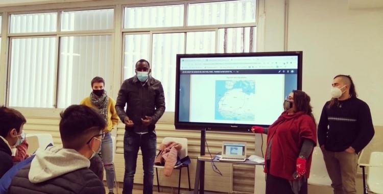 Un dels tallers a l'Institut Ca n'Oriac | Cedida