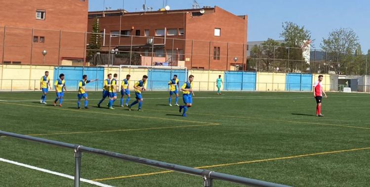 Els jugadors del Sabadell Nord celebren un dels gols   Albert Quera