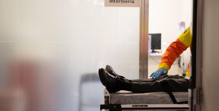 Un pacient a l'Hospital de Sabadell   Roger Benet