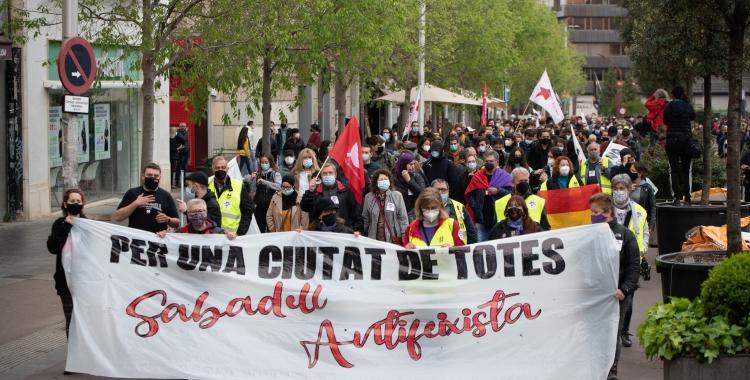 Manifestació d'aquest migdia a Sabadell | Roger Benet