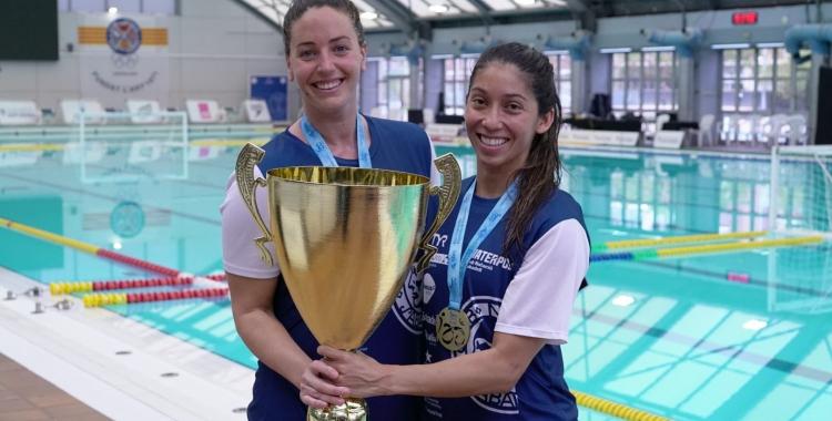 Garcia i Ortiz, amb la Copa de la Reina | Cedida