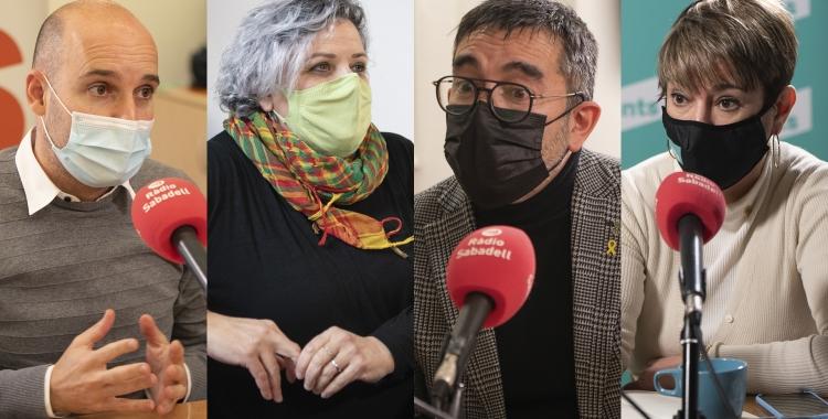 Portaveus dels grups de l'oposició: Adrián Hernández, Nani Valero, Gabriel Fernández i Lourdes Ciuró