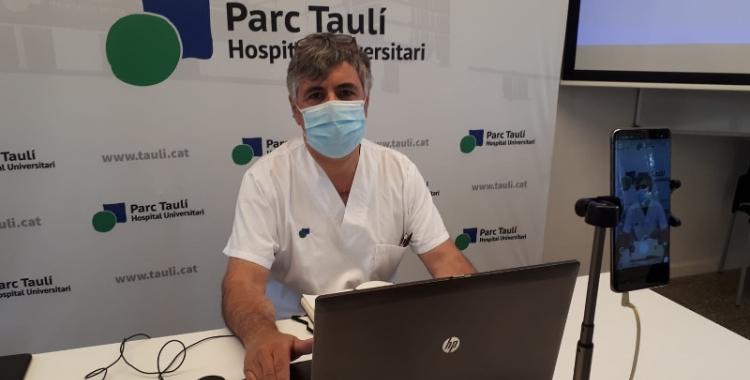 Xavier Calvet, durant la connexió amb el programa Al Matí