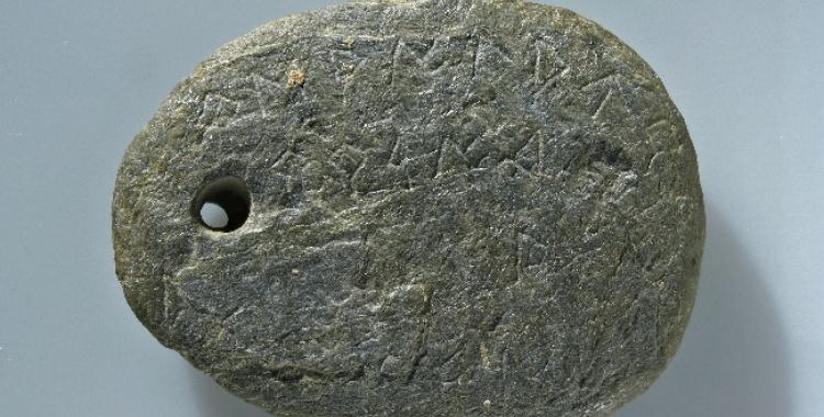 L'amulet amb caràcters ibèrics del Museu d'Història de Sabadell   Cedida