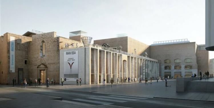 Imatge virtual del projecte guanyador del concurs d'ampliació del MACBA, 'Galeria' | MACBA