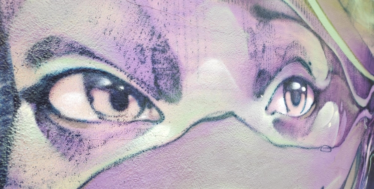 Detall del grafiti que hi ha a L'Estruch, obra de Treze | Pau Duran