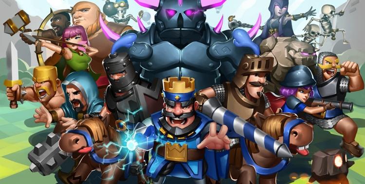 Personatges del joc 'Clash Royale'   Cedida