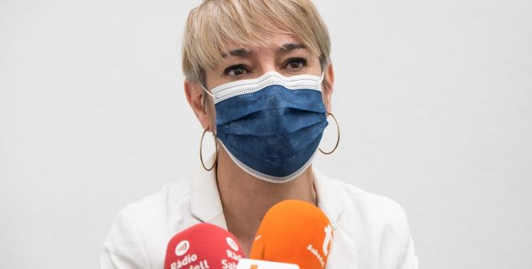 Lourdes Ciuró en la roda de premsa de comiat | Roger Benet