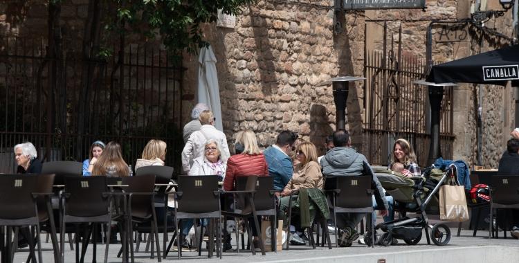 Una terrassa del Centre de Sabadell/ Roger Benet