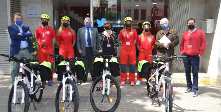La nova Unitat d'Intervenció Ciclista de Creu Roja Sabadell   Cedida