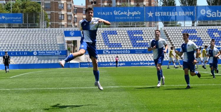El juvenil arlequinat celebra el 4-0 | Críspulo Díaz