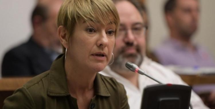 Lourdes Ciuró en una intervenció al Ple municipal   Roger Benet