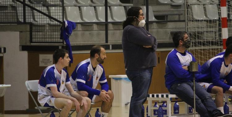 Sergi Cifré dirgint el partit contra l'Esplugues | Adrián Arroyo