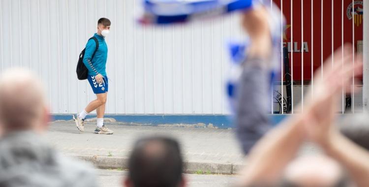 Imatge de l'anomenada #LaGranRebuda2 abans del xoc contra el Tenerife   Roger Benet