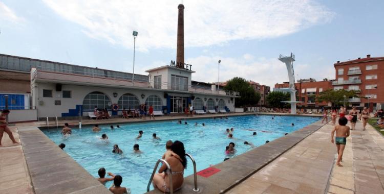Imatge de la piscina de Can Marcet   Cedida