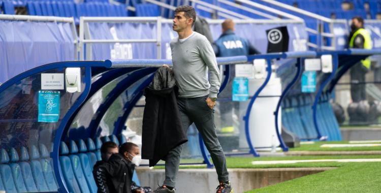 Després de perdre a Oviedo, Hidalgo ja tenia en ment el següent compromís contra el Tenerife   Roger Benet