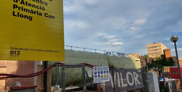 Imatge de les obres de construcció del nou CAP Can Llong | Núria García
