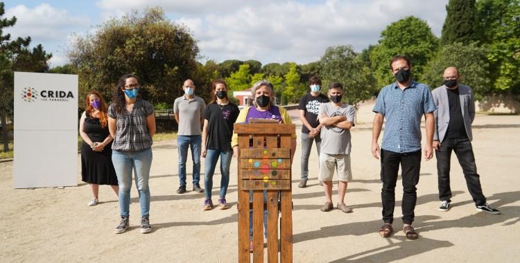 Membres de la Crida per Sabadell presentant la prosposta | Cedida
