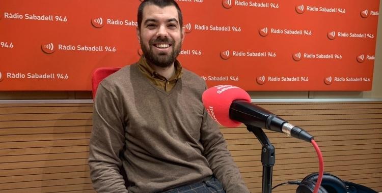 Joan Cuevas, als estudis de Ràdio Sabadell | Pere Gallifa