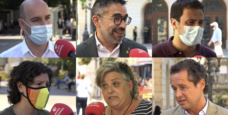 Els sis portaveus municipals | Roger Benet