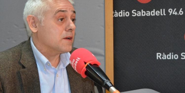 Toni Font als estudis de Ràdio Sabadell | Arxiu