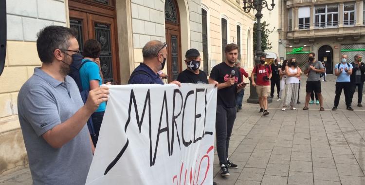 Manifestants aquesta tarda a Sant Roc   Ràdio Sabadell