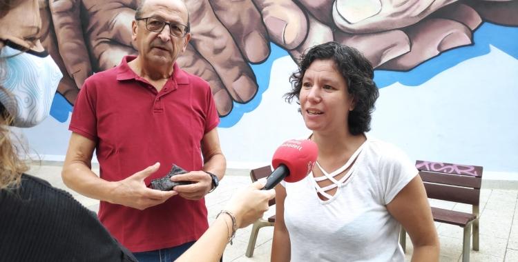 Antonio Ontiveros, portaveu de Podem Sabadell, i Marta Morell, portaveu municipal   Podem Sabadell