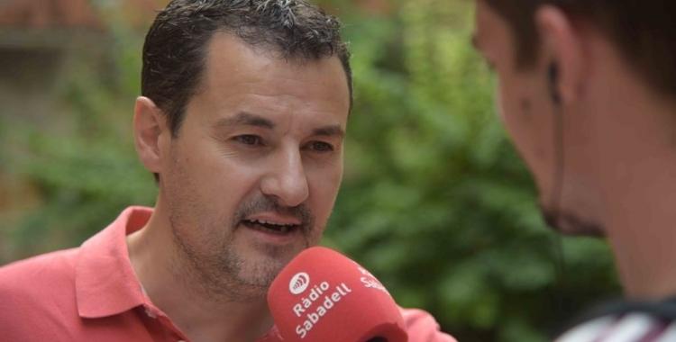 Òscar Lanuza entrevistat a Ràdio Sabadell   Arxiu Roger Benet