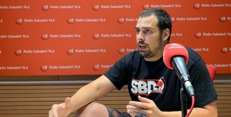 Ferran, en una entrevista a Ràdio Sabadell | Adrián Arroyo