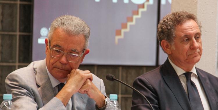 El president de FUNDIT, Juan José Pérez, i a la dreta, Carlo Maria Gallucci Calabrese, vicerector de Relacions Internacionals i Estudiants de la Universitat Ramon Llull | FUNDIT