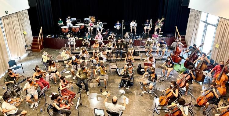 Imatge dels assajos dels pròxims concerts    Orquestra Simfònica Segle XXI