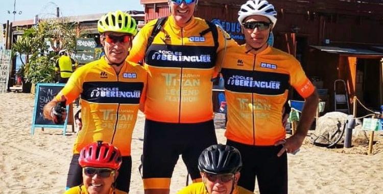 L'equip de Cicles Berenguer durant un entrenament previ a la Madrid-Lisboa   Cedida