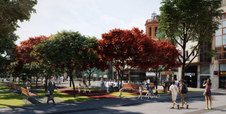 Un dels projectes que ha tirat endavant és el de la remodelació del Passeig   Cedida
