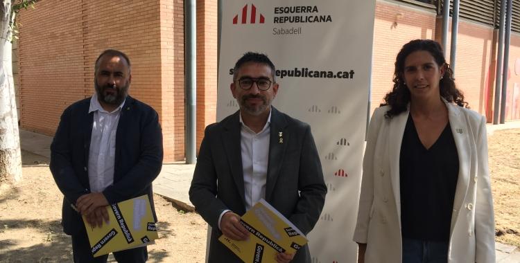 Barroso, Fernández, Soriano-Costa, regidors d'ERC al Gimnàs Municipal | Ràdio Sabadell