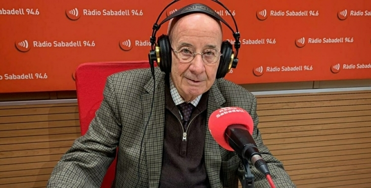 Antoni Quintana en una visita a la Ràdio   Arxiu