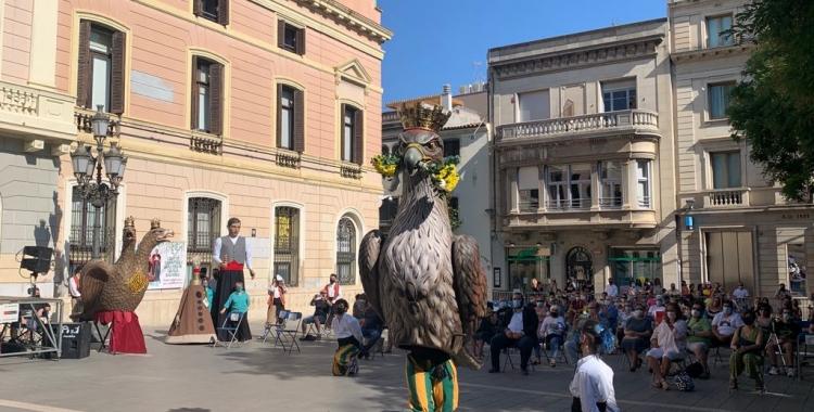 L'Àliga de Sabadell en el seu primer ball a plaça Sant Roc   Mireia Sans