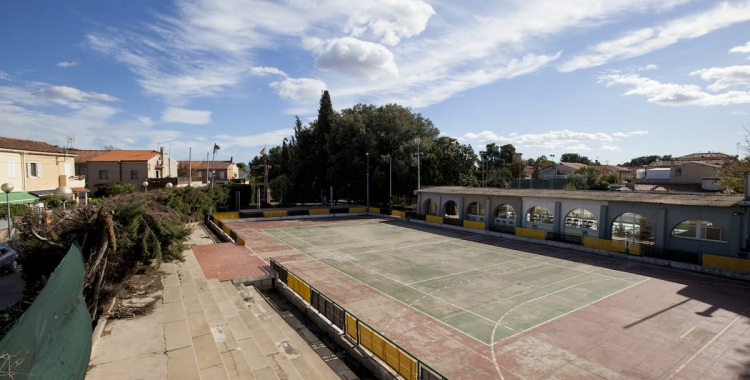 Es remodelarà la pista d'hoquei patins i l'edifici que hi ha al costat | Cedida