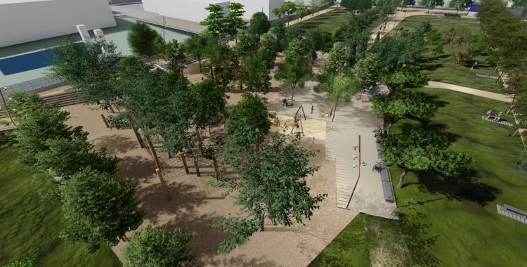 Una imatge del futur jardí de Campoamor | Cedida