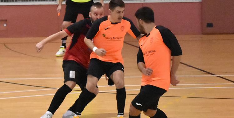 Cintu Aranda (esquerre) ha convençut Jorge Tendero (mig) per jugar amb l'equip | Cedida