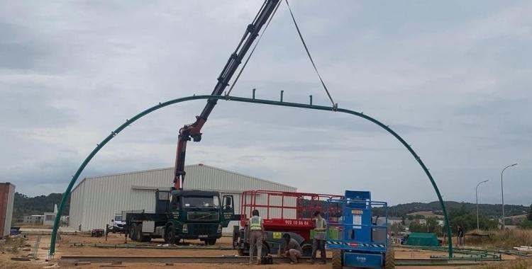 Muntatge del nou hangar Armengol | Fundació Parc Aeronàutic