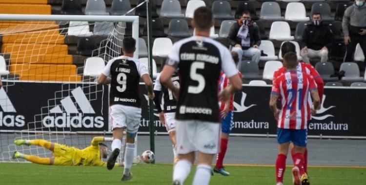 Morgado i Forgas en un partit de l'última temporada | CD Badajoz