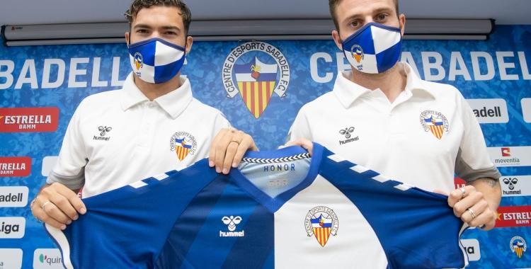 Dani Sánchez i Diego Caballo avui a la sala de premsa Miguel Quereda | Roger Benet