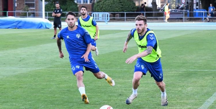 En l'entrenament d'ahir, Diego Caballo es va exercitar per primer cop amb el Sabadell   CES