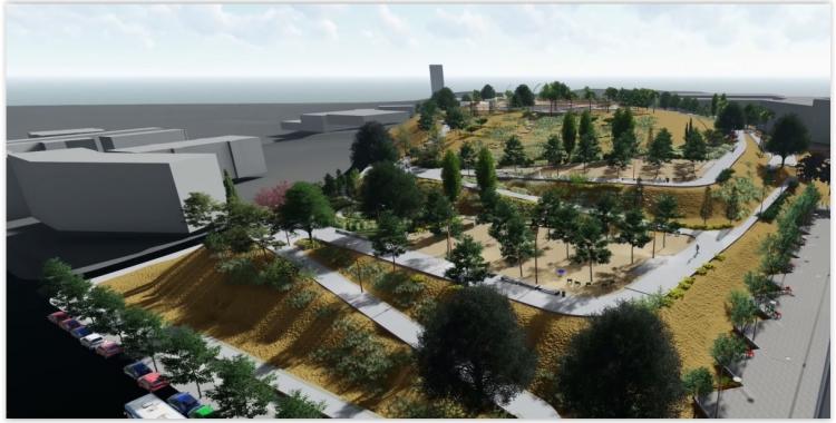 Imatge de com quedarà el Parc de les Aigües   Cedida