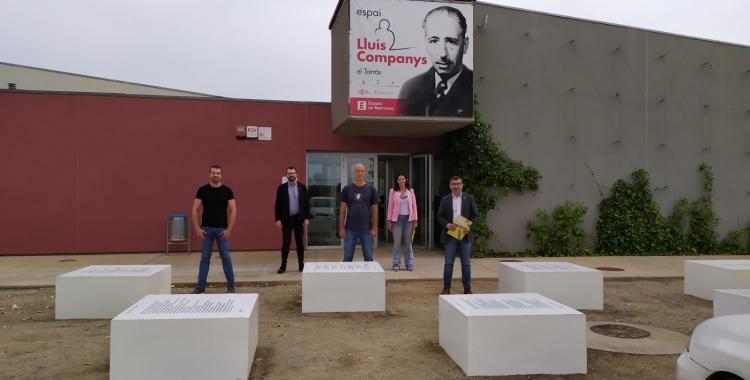 El grup d'ERC Sabadell a l'Espai Lluís Companys del Tarròs | Cedida