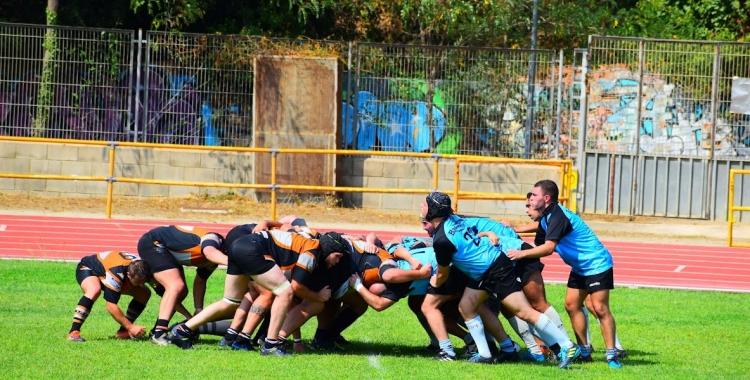 El sènior masculí durant un partit de pretemporada a Badalona | Rugby Club Badalona