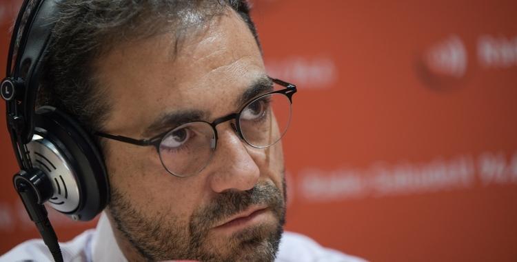 El president del Consell Comarcal, Ignasi Giménez, en una entrevista a Ràdio Sabadell | Roger Benet